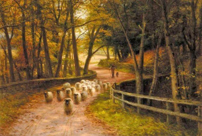 牧羊系列油画 苏格兰Joseph Farquharson作品插图21