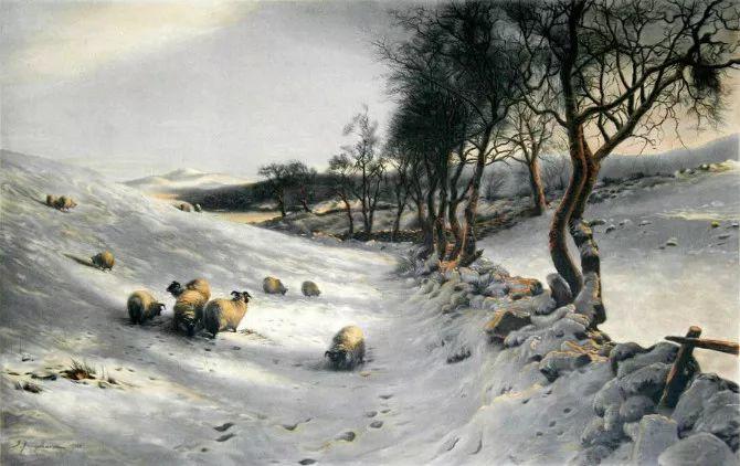牧羊系列油画 苏格兰Joseph Farquharson作品插图23
