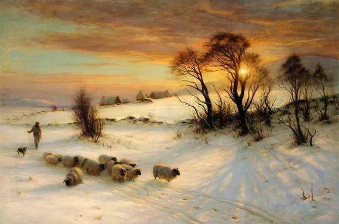 牧羊系列油画 苏格兰Joseph Farquharson作品插图25