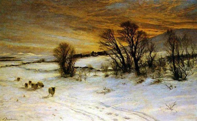 牧羊系列油画 苏格兰Joseph Farquharson作品插图29