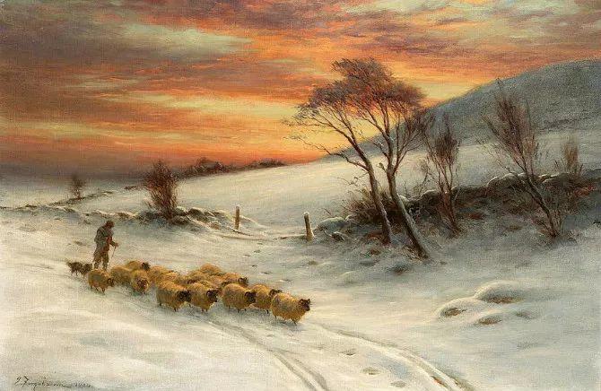 牧羊系列油画 苏格兰Joseph Farquharson作品插图31