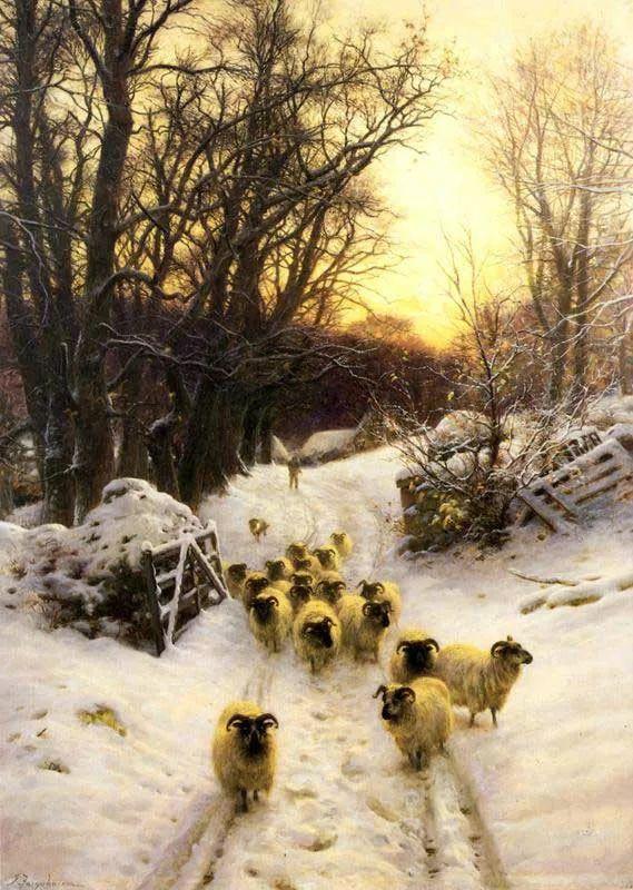 牧羊系列油画 苏格兰Joseph Farquharson作品插图33