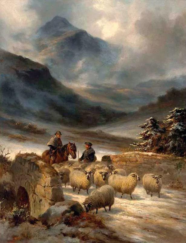 牧羊系列油画 苏格兰Joseph Farquharson作品插图35