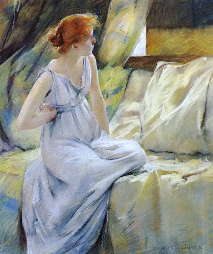 风景人物 美国画家Francis Coates Jones(1857-1932)插图9