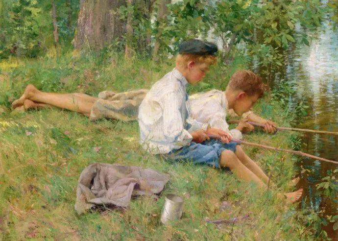 风景人物 美国画家Francis Coates Jones(1857-1932)插图19