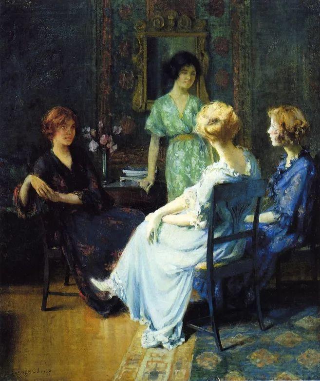 风景人物 美国画家Francis Coates Jones(1857-1932)插图21