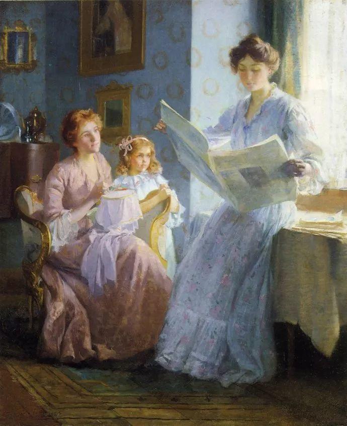 风景人物 美国画家Francis Coates Jones(1857-1932)插图25
