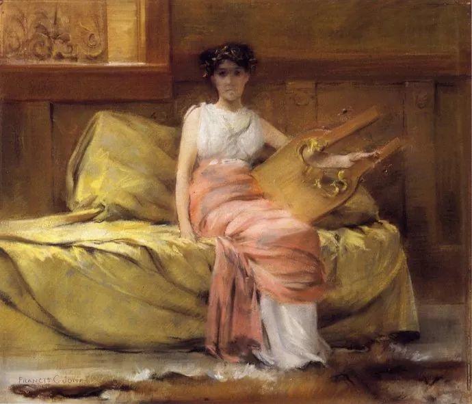 风景人物 美国画家Francis Coates Jones(1857-1932)插图27