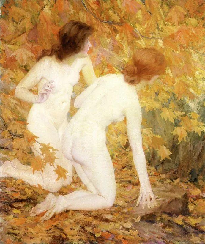 风景人物 美国画家Francis Coates Jones(1857-1932)插图31