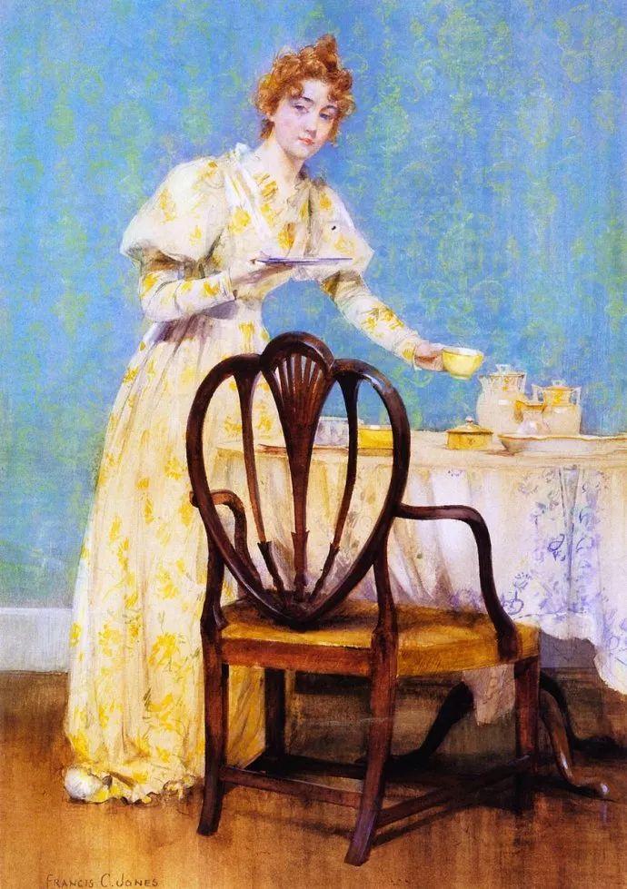风景人物 美国画家Francis Coates Jones(1857-1932)插图35