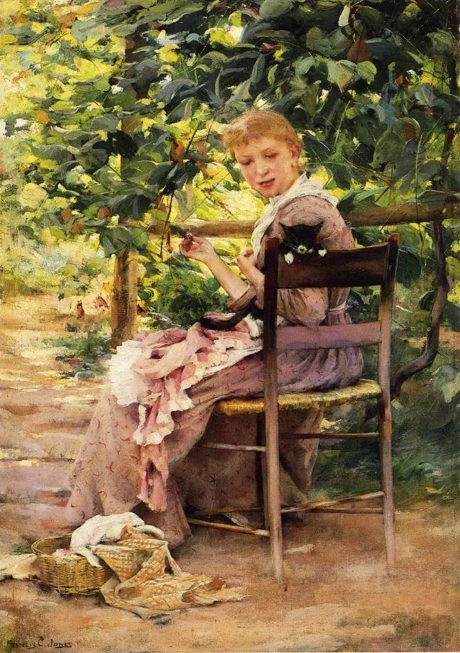 风景人物 美国画家Francis Coates Jones(1857-1932)插图37