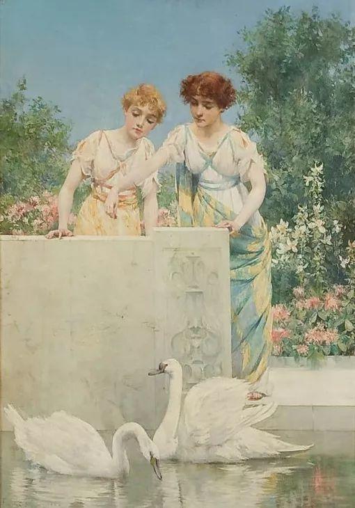 风景人物 美国画家Francis Coates Jones(1857-1932)插图45