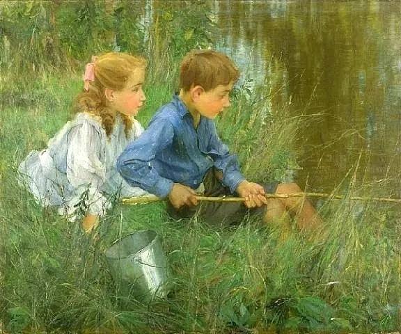 风景人物 美国画家Francis Coates Jones(1857-1932)插图47