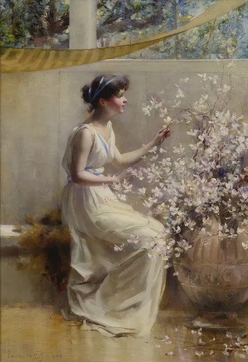 风景人物 美国画家Francis Coates Jones(1857-1932)插图49