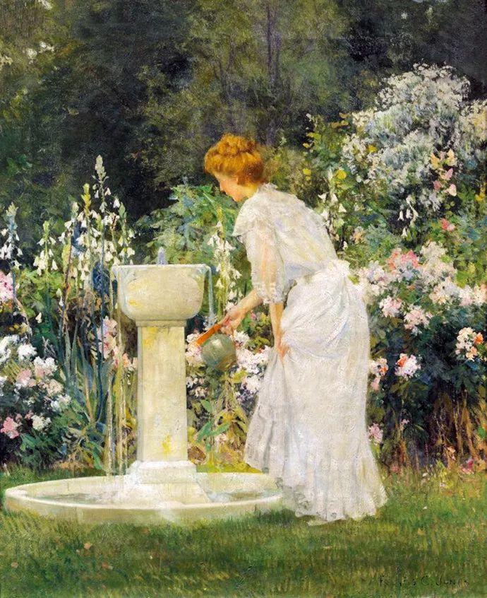风景人物 美国画家Francis Coates Jones(1857-1932)插图51