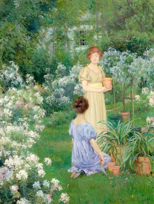 风景人物 美国画家Francis Coates Jones(1857-1932)插图53