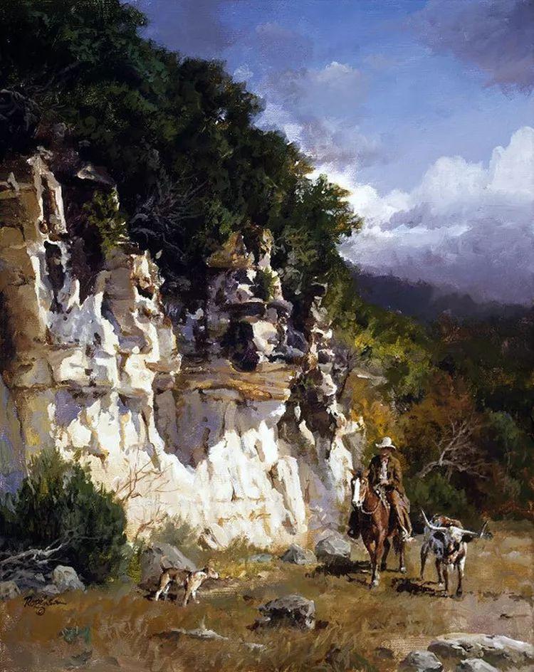 风景油画 美国James Robinson作品欣赏插图1