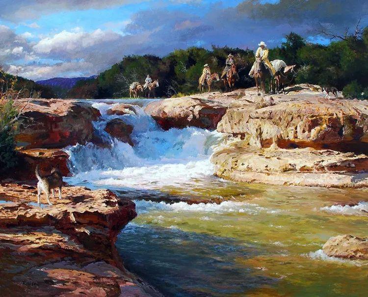 风景油画 美国James Robinson作品欣赏插图3
