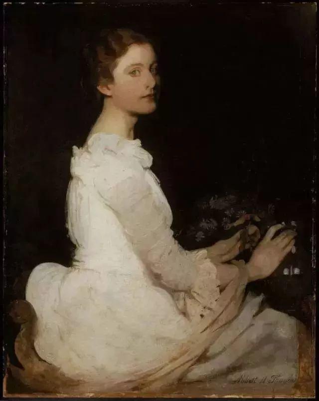 灯下优雅年轻女性 法国画家Delphin Enjolras插图27