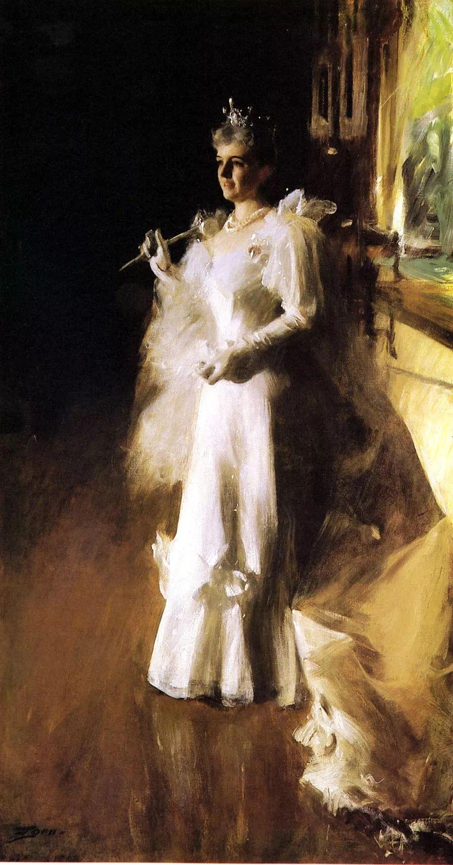 瑞典著名绘画大师Anders Zorn油画作品插图13