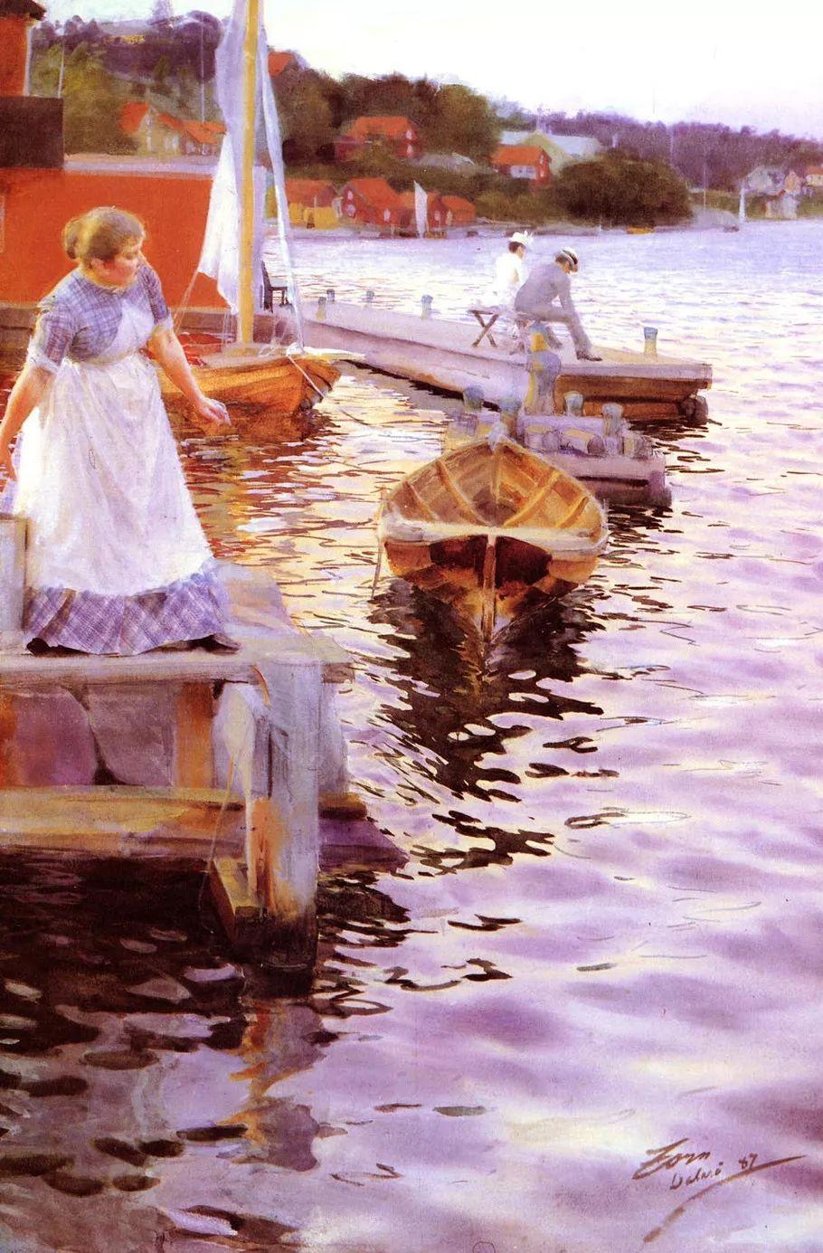 瑞典著名绘画大师Anders Zorn油画作品插图17