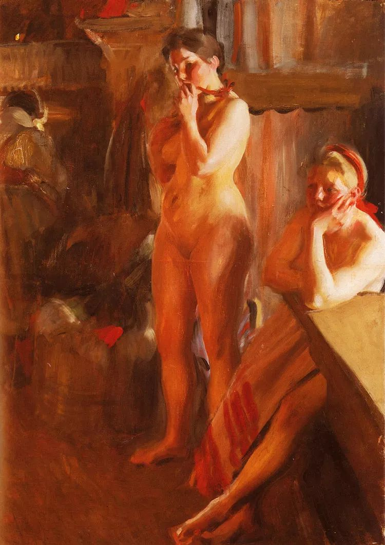 瑞典著名绘画大师Anders Zorn油画作品插图25