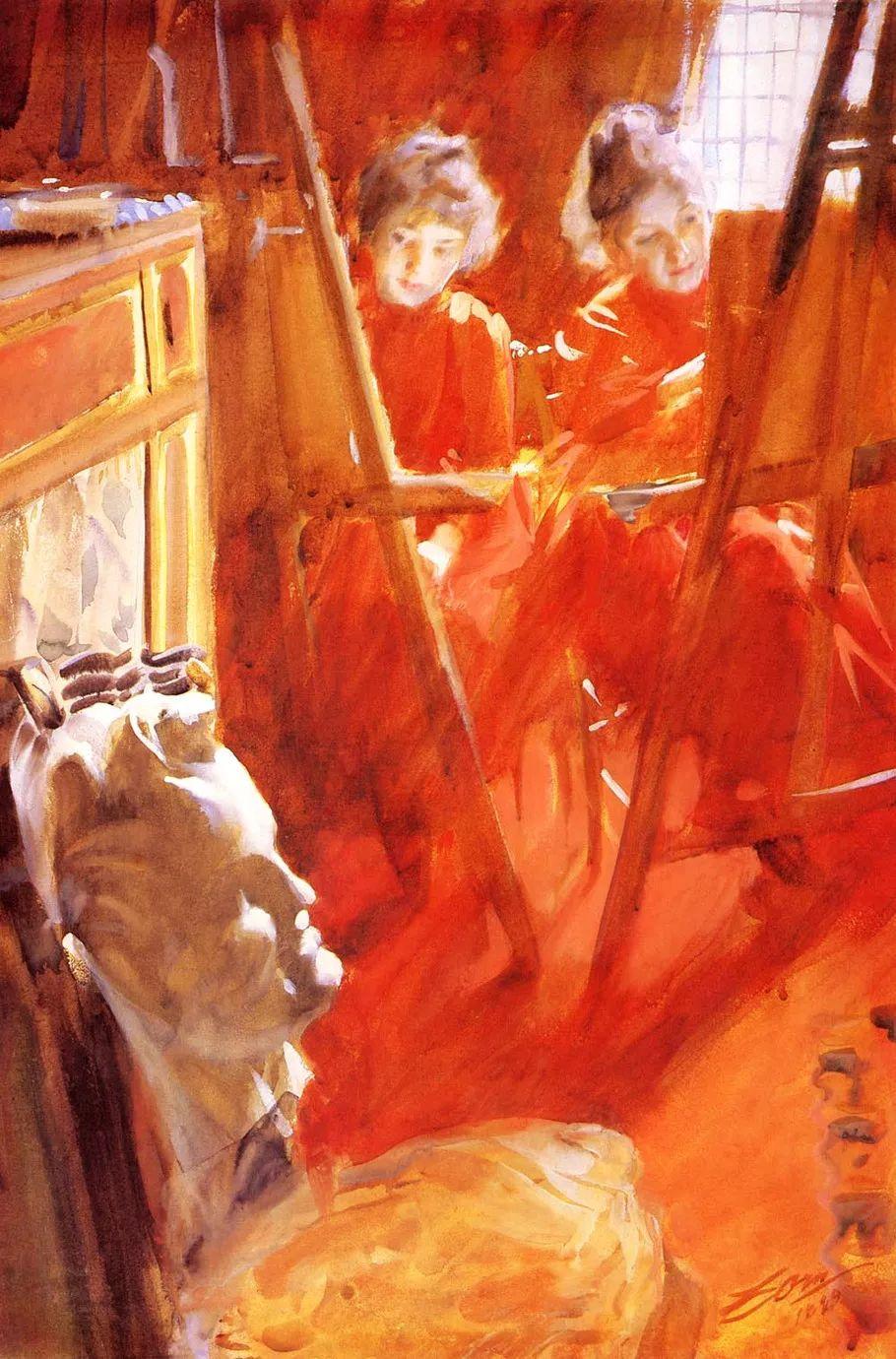瑞典著名绘画大师Anders Zorn油画作品插图43