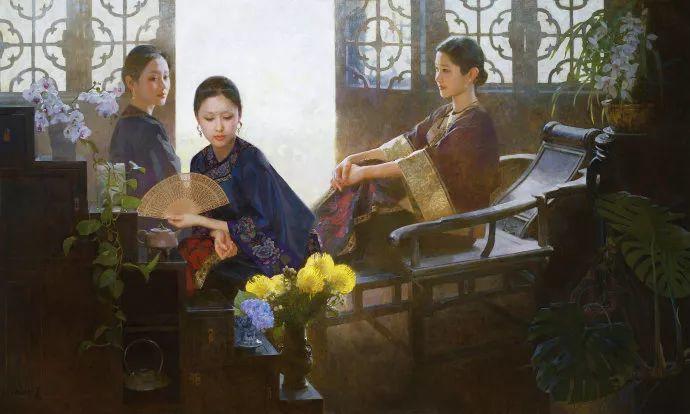 油画人物欣赏  陈衍宁作品插图1