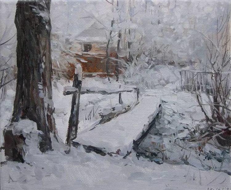 雪景 俄罗斯艺术家Vitaly Malykh画选插图6