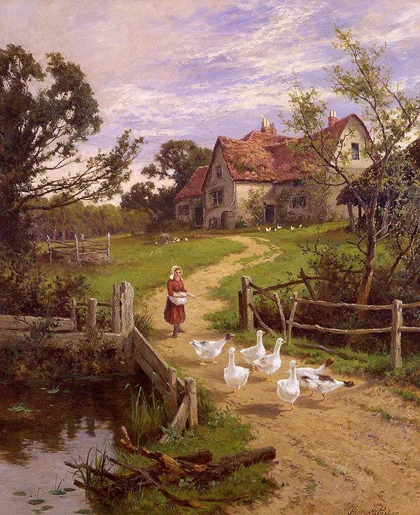 风景油画欣赏 英国画家亨利·帕克(1858-1930)插图1