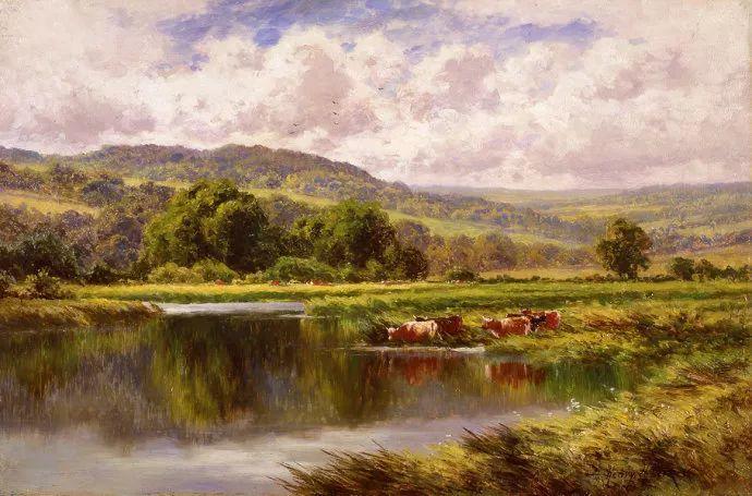 风景油画欣赏 英国画家亨利·帕克(1858-1930)插图3