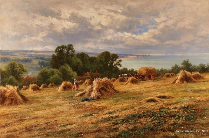 风景油画欣赏 英国画家亨利·帕克(1858-1930)插图11