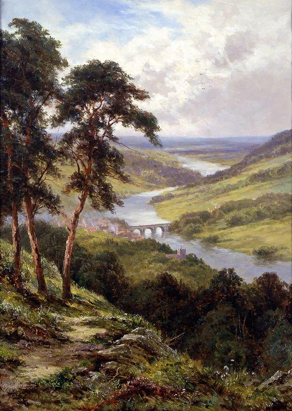 风景油画欣赏 英国画家亨利·帕克(1858-1930)插图15