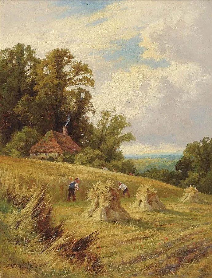 风景油画欣赏 英国画家亨利·帕克(1858-1930)插图19