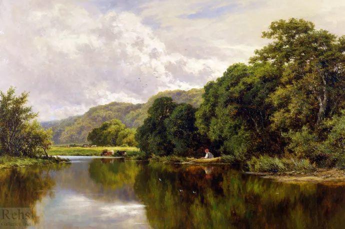 风景油画欣赏 英国画家亨利·帕克(1858-1930)插图21