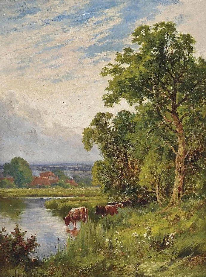 风景油画欣赏 英国画家亨利·帕克(1858-1930)插图23