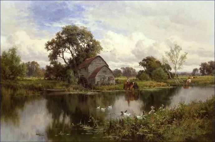 风景油画欣赏 英国画家亨利·帕克(1858-1930)插图25