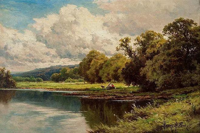 风景油画欣赏 英国画家亨利·帕克(1858-1930)插图33