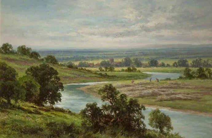 风景油画欣赏 英国画家亨利·帕克(1858-1930)插图35