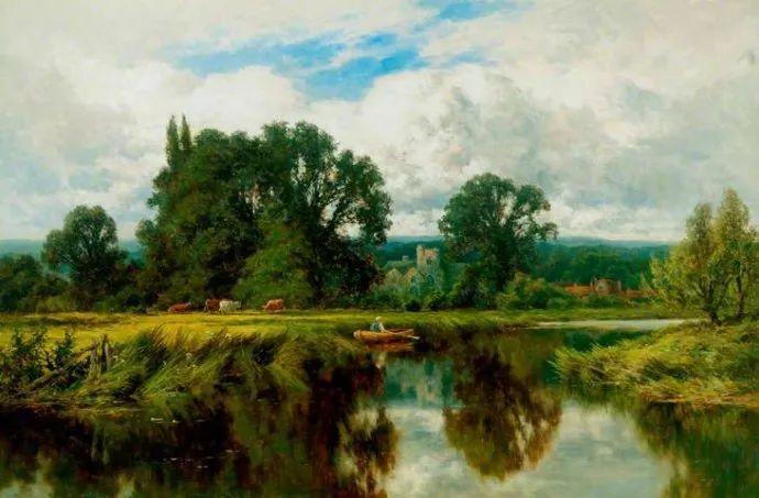 风景油画欣赏 英国画家亨利·帕克(1858-1930)插图41