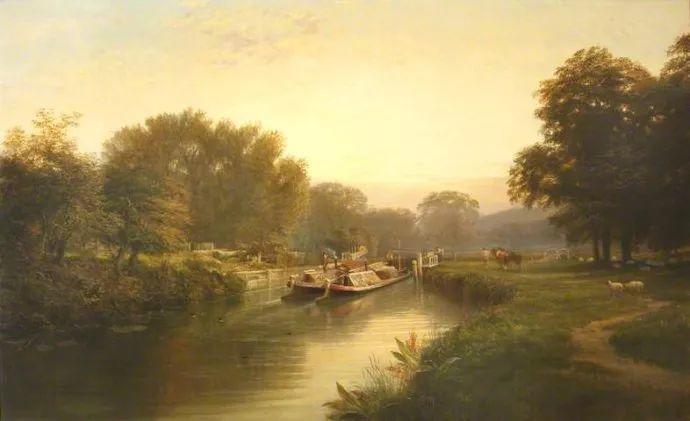 风景油画欣赏 英国画家亨利·帕克(1858-1930)插图43