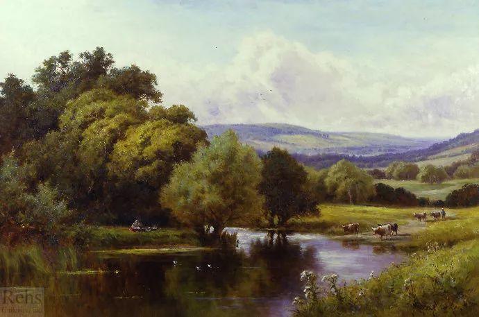 风景油画欣赏 英国画家亨利·帕克(1858-1930)插图45