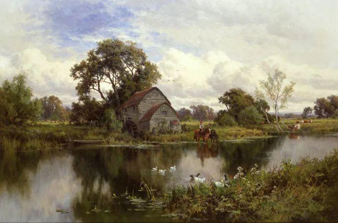 风景油画欣赏 英国画家亨利·帕克(1858-1930)插图47