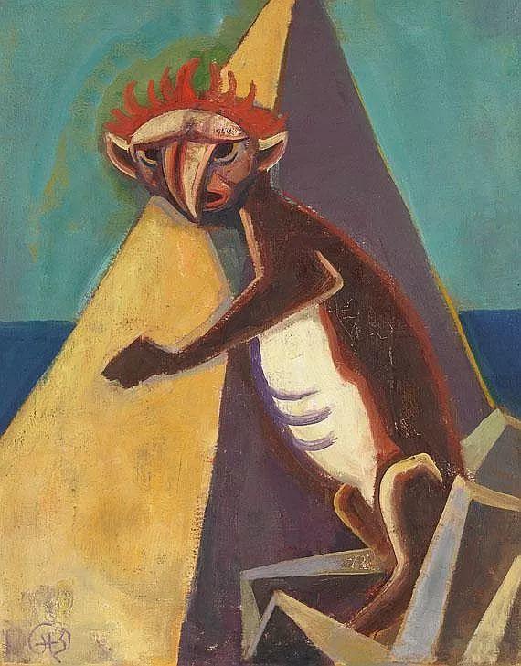 表现主义 德国画家Karl Hofer(1878-1955)插图35