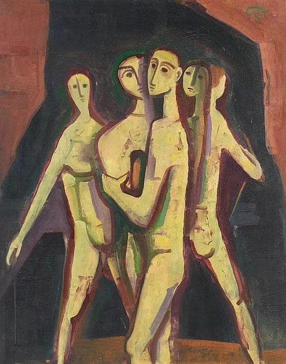 表现主义 德国画家Karl Hofer(1878-1955)插图37