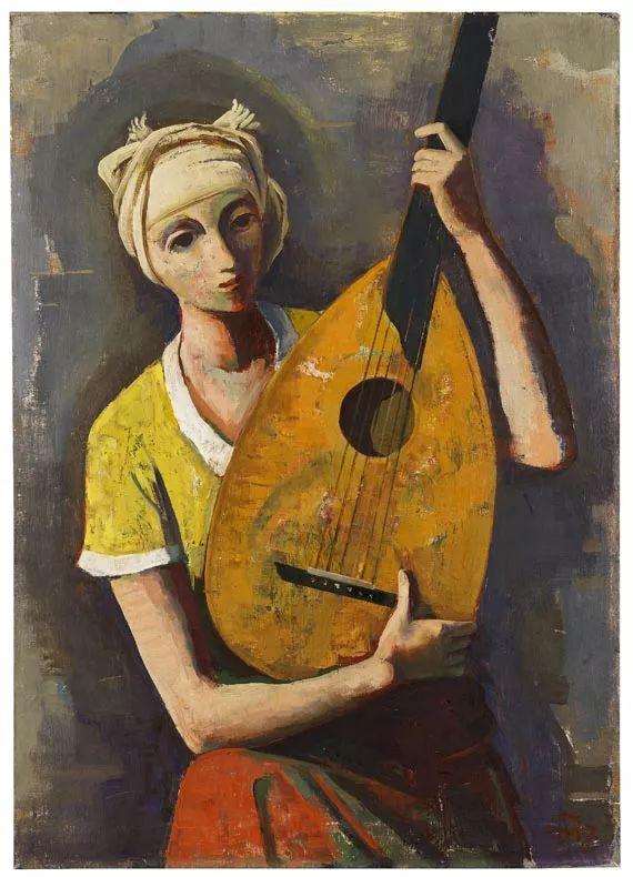 表现主义 德国画家Karl Hofer(1878-1955)插图39
