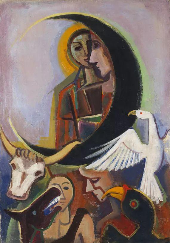 表现主义 德国画家Karl Hofer(1878-1955)插图41