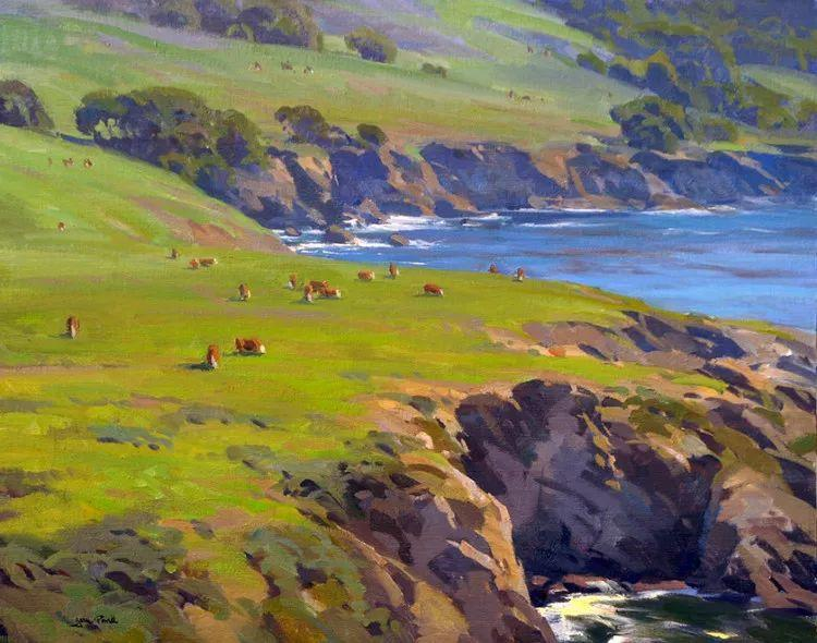 风景油画欣赏 美国Jesse Powell作品插图1