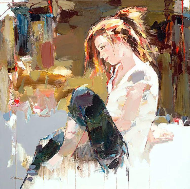 人物油画 阿尔巴尼亚约瑟夫·科特作品二插图1