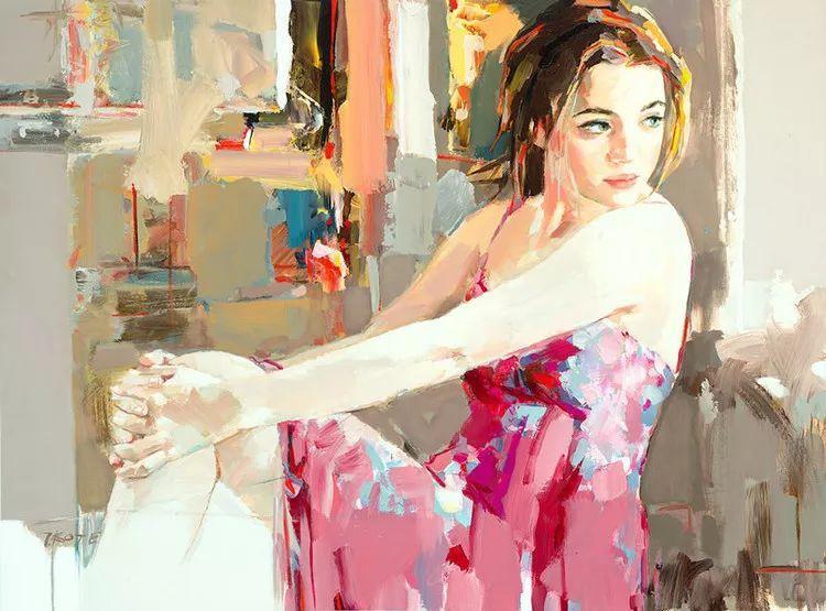 人物油画 阿尔巴尼亚约瑟夫·科特作品二插图7
